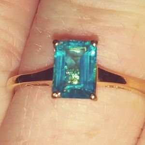 Paraiba Topaz Solitaire Ring